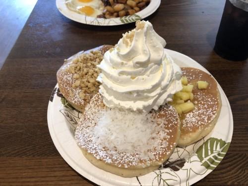 エッグスンシングスのパンケーキは絶品でした♡